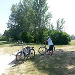 Con le bici in dotazione nell'all inclusive dell'hotel Metropolitan abbiamo visitato il parco di