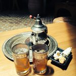 Typical moroccan Tea on welcome
