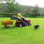 Gail and Teenie busy in garden