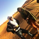 Youssef and Jan at start of our trek into Erg Chebbi