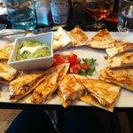 Quesadilla tasting platter
