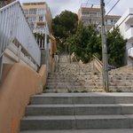 """Une partie des """"envolées"""" des 130 marches (près de 15 étages"""