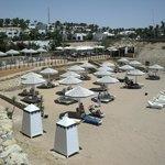 Spiaggia riservata ai clienti dell'Hotel Prestige