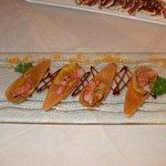 Gamberi rossi di Sicilia su sapore di agrumi