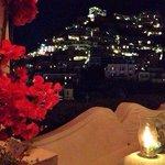 Positano view at night