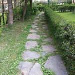 pathway in front of cottage