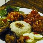 Indonesische Reistafel aus der Speisekarte
