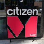Citizen M sign - outside