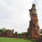 Ruins behind tower