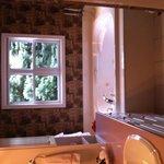 Rose room bathroom