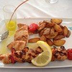 Chicken souvlaki, cooked beautifully