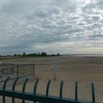 walking near the beach.