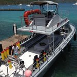 The super-nice custom dive boat at Sunchasers Scuba