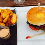 Beef, cheese and bacon burger!