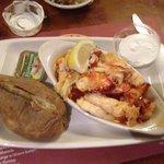 $33 - meat from 2lb. lobster, potato and side salad - taste just OK