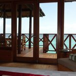 The view from the water bungalows