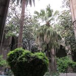 Courtyard and water feature, Cathedral of Saint Eulalia