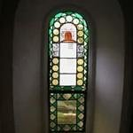 Stained glass masonic window