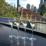 Champagne in the Roof Top Bar