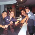 the bar staff and rocco