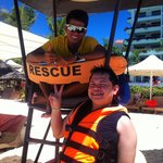 me and Rico the Lifeguard.