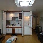 View of the Kitchen area & Fridge