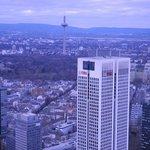 Vista da torre de televisão.