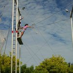 I was doing trapeze