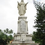 Statue of Jesus Christ in front of the cathedral
