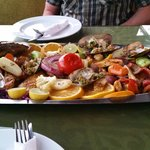Seafood Platter - beautifully fresh and well cooked
