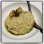 Mushroom and Parmesan Cheese Risotto