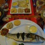 Bar grillé et poisson à la plancha