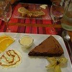 Moelleux au chocolat et dessert aux pommes
