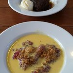 Sticky toffee pud and the other I sent back