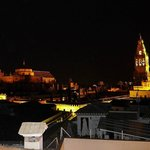 La Mezquita from roof terrace - night