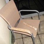 Balcony chair breakage