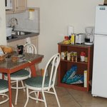 kitchenette in deluxe efficiency