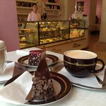 Delicious cake and coffee
