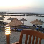 The view from the Thalassa restaurant