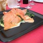 Salmone e spinaci :D