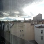 view out of my window to Alexanderplatz in distance