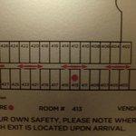 Lageplan des Ostflügels (ich hatte Zimmer 413)