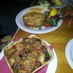 Cassoulet and devilled crab
