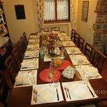 La sala per la colazione e la cena