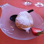 Deep fried ice cream at Maiko restaurant. Delicious!!!