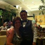 At bar with Angela