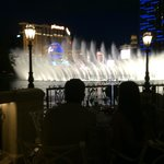 Fountains of Bellagio. Stunning and very romantic.