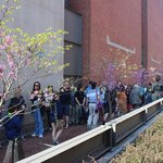 Queue for timed admission tickets, United States Holocaust Memorial Museum, April 2014