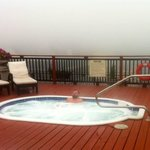 The fog rolled in from Lake Eyrie one day and we luxuriated in one of the the splendid hot tubs