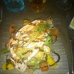 Le cocktail de langoustines et crevettes aux agrumes